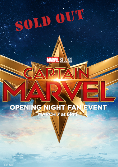 Captain Marvel Fan Event Poster